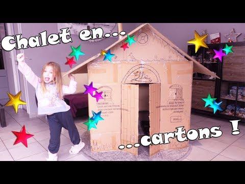Confection D'une Très Grande Cabane Chalet En Carton Dans Le Salon ! Cardboard Chalet.
