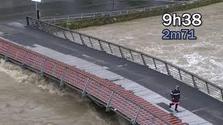 Inondations 2018, sanctuaire de Lourdes : la journée du mercredi 13 juin jusqu'au pic de 12h55