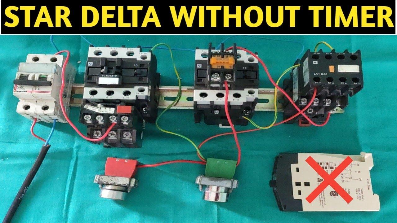 STAR DELTA STARTER CONTROL WIRING CONNECTION! STAR DELTA ...