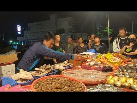 Crazy Cheapest SeaFood Auction in Taiwan Changhua Shetou Guava Nightmarket