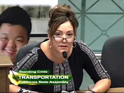 CA State Assembly Transportation Committee Hearing SB 1072