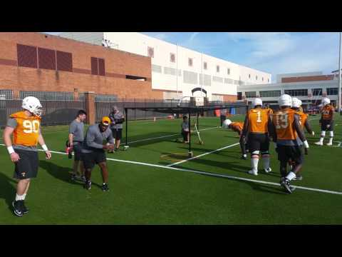 Tennessee Football Defensive Line Drill Spring 2016