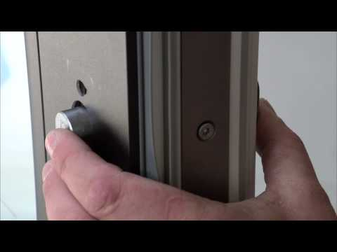 How to mount double cylinderlock on patio doors