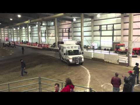 Lancaster Events Center - Lincoln, Nebraska - Caged kart racing action