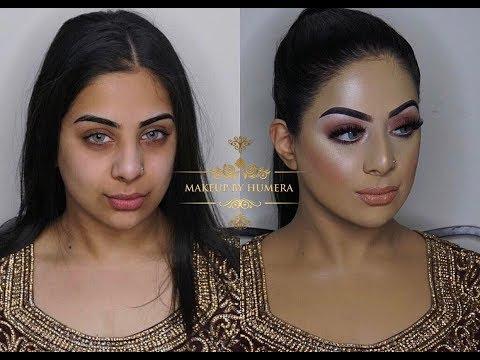 Asian Bridal Makeup  Walima Look  Brown Smokey Eyes And Nude Lipstick