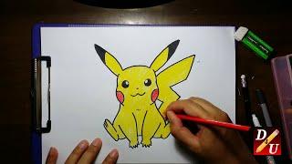 How To Draw PIKACHU (POKEMON) Cara Menggambar PIKACHU (POKEMON)