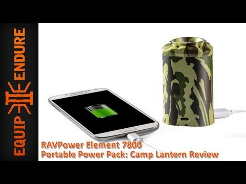 RAVPower Element 7800 Portable Power Pack: Camp Lantern Review by Equip 2 Endure