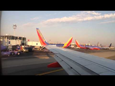 Southwest Airlines B737 departing La Guardia- New York