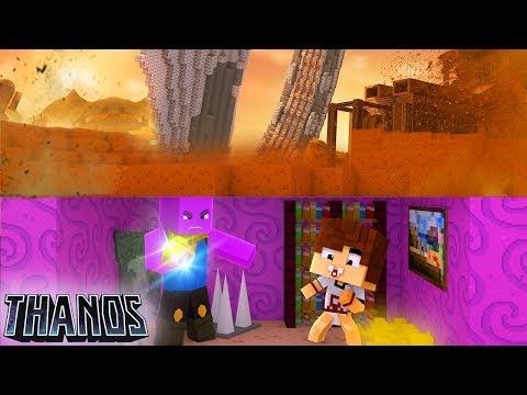 CASA SECRETA DO THANOS  Vingadores Ultimato - Minecraft