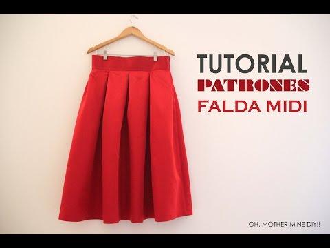 061a21473 DIY Tutoriales y patrones: Falda Midi Valentino - YouTube