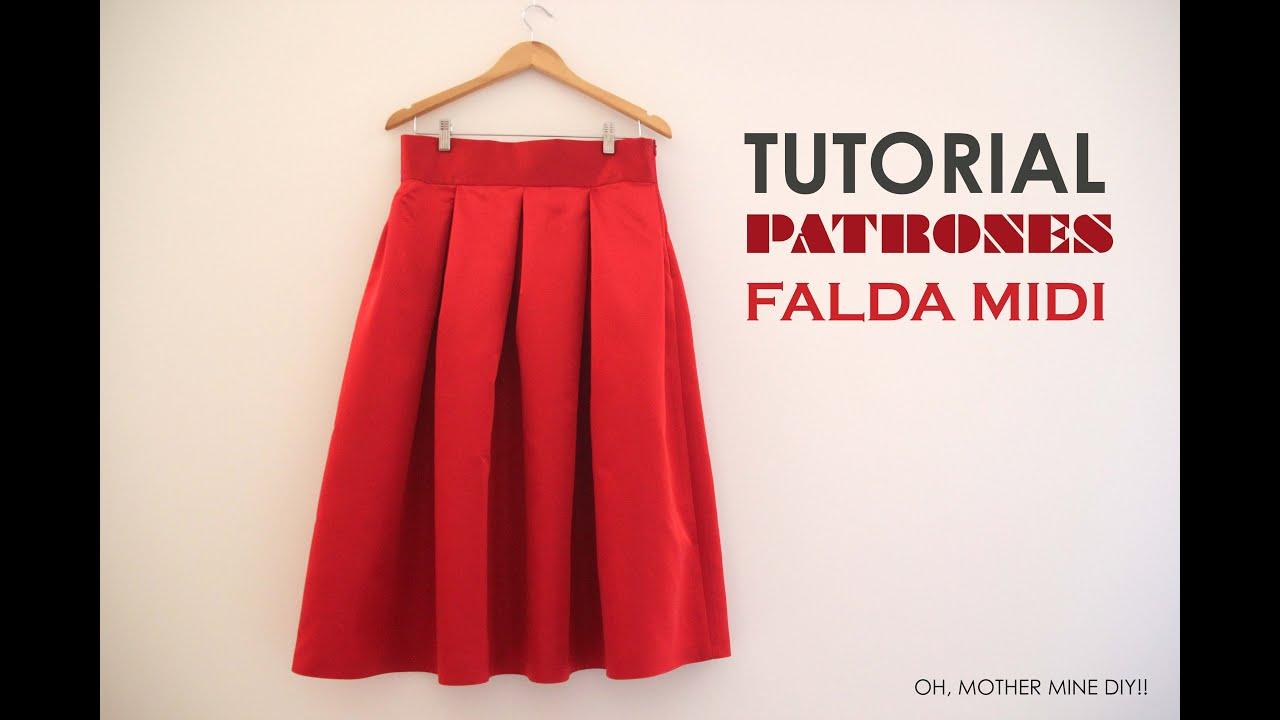 ac30a5bdf7 DIY Tutoriales y patrones  Falda Midi Valentino - YouTube