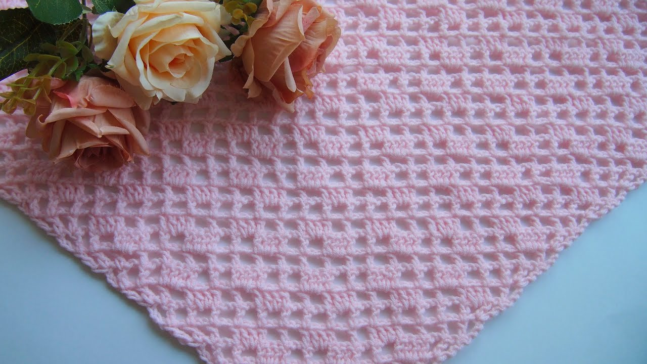 Вязание шали. Простой способ для начинающих  Урок 247   Knitting shawls. Easy way for beginners