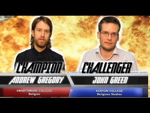 WikiWars Championship - John Green vs. Andrew Gregory