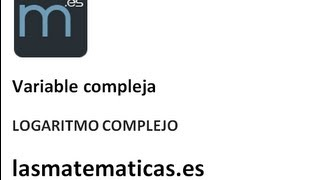 Logaritmo complejo 1