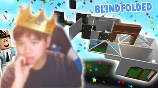 i built a bloxburg house but blindfolded with FACECAM... it was a mess