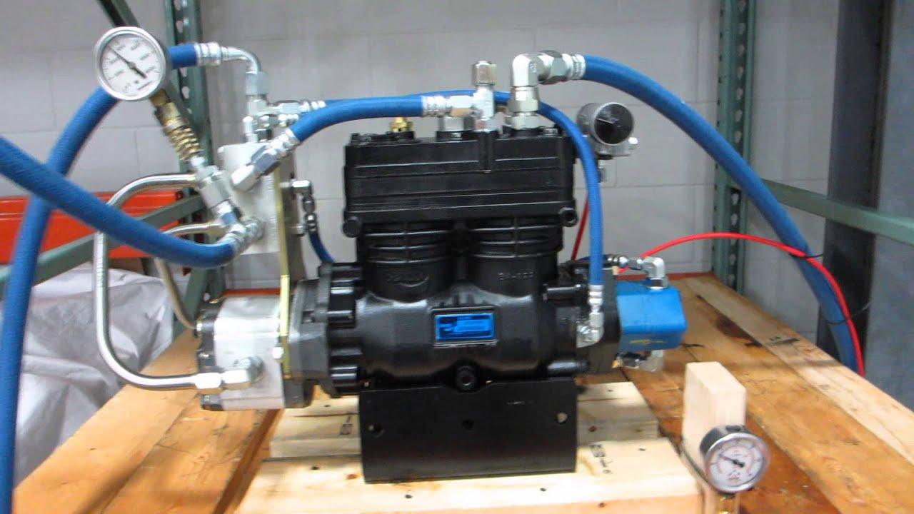 Hydraulic Air Compressor Demo Youtube