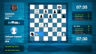 Chess Game Analysis: Зайцев Кирилл - kald3333 : 1-0 (By ChessFriends.com)