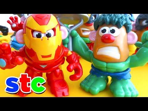 Mr Potato Head Los Vengadores Iron Man y Hulk