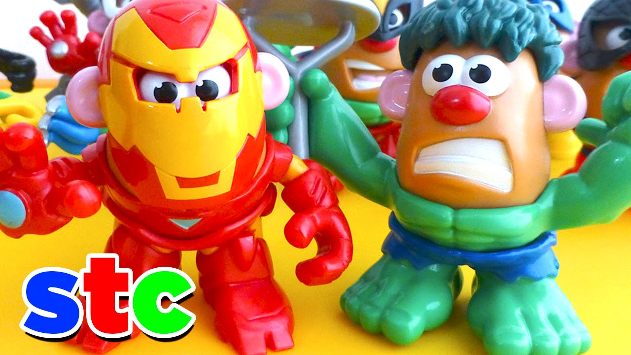 Head De Vengadores Superheroes Y Cara Los Papa Hulk Iron MrPotato Man zpUMGqSV
