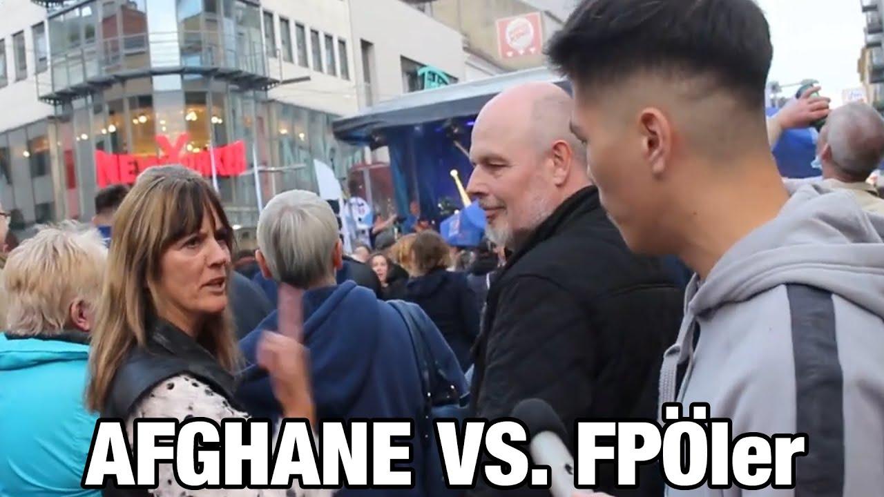 AFGHANE vs. FPÖ ler - Wien Wahl 2020 - Favoriten, Viktor Adler Markt