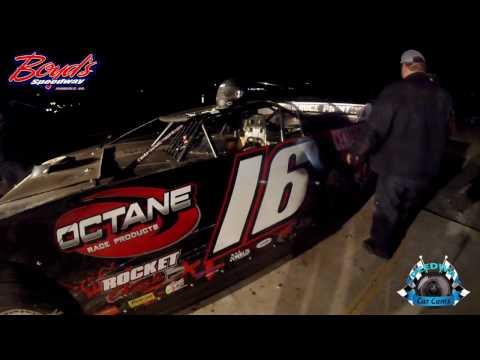 #16 JT Seawright - Sportsman Late Model - 3-18-17 Boyd's Speedway - Dirt In-Car Camera