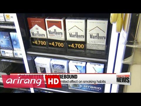 Cigarette sales bounce back in Korea despite gov't efforts