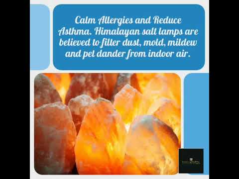 Calm Allergies and Reduce Asthma. Himalayan salt lamps are believed to filter dust, mold, mildew an…