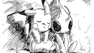 Poké-Drawing #01 Pikachu & Celebi ! Celui Du Film 4EVER :D