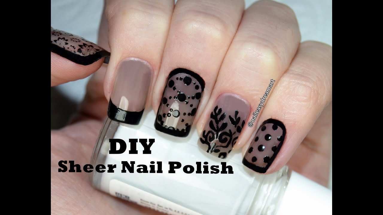 How to DIY Sheer Tint Nail Polish | 5 Designs | Прозрачный Дизайн ...