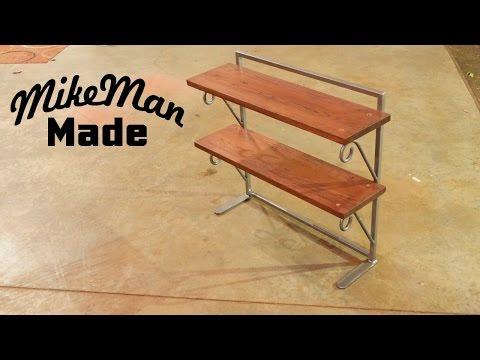 Dresser Shelf  Build With Handmade Wrought Iron Scrolls
