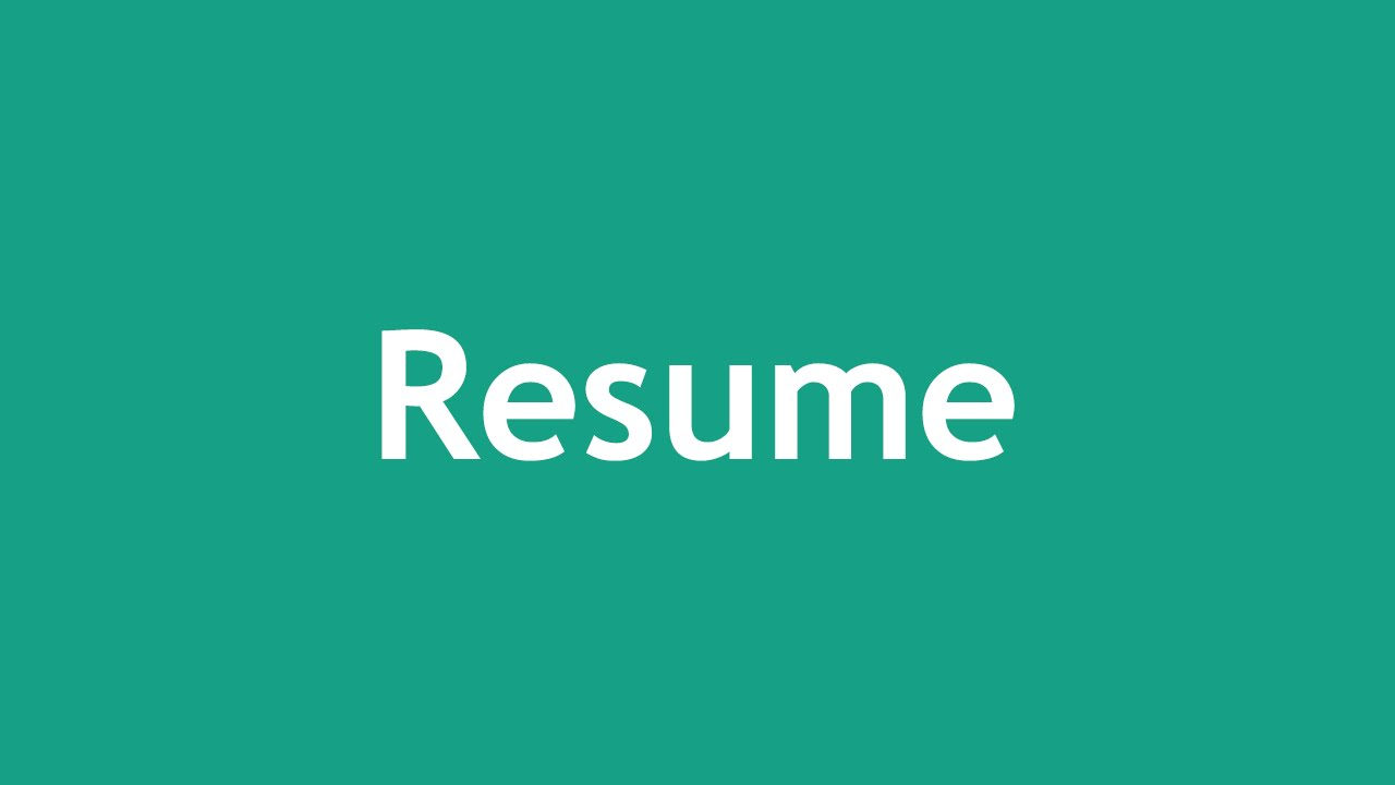 [ Arabic Tutorial Create Template ] #09 - Resume