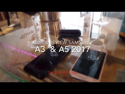 Samsung Galaxy A3 e A5 (2017) Review em Português