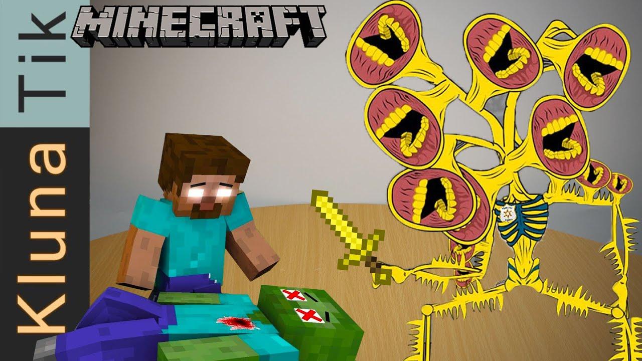 Monster school: POOR ZOMBIE LIFE #15 (Steve life, Siren gold) - Kluna Tik eating Minecraft Animation