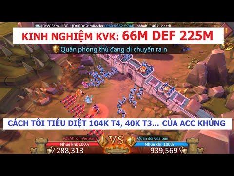 Kinh Nghiệm KVK LORDS MOBILE: Cách DEF Trước ACC TRÊN 100M (CÓ T4) (How To Def Big Acc)