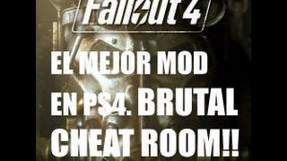 FALLOUT 4 -EL MEJOR MOD EN PS4. CHEAT ROOM!-