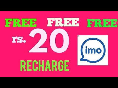 ₹20 Free Recharge per Refer | IMO App - Free Video call and Chat