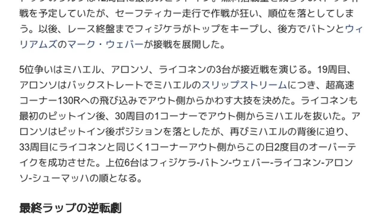 2005年日本グランプリ (4輪)」と...