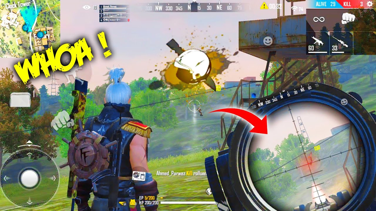 Magical Gameplay With AWM + Mp40 | 24 Kills Total In Free Fire With @P.K. GAMERS  Garena Free Fire