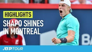 Shapovalov Scores Opening Win   HIGHLIGHTS   ATP