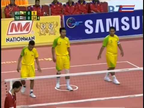 เซปัก ตะกร้อ ชิงชนะเลิศ ซีเกม 27 ไทย พม่า ทีม B 1/2