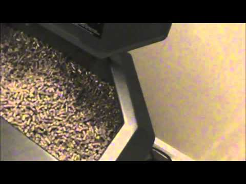 Breckwell Pellet Stove Operation Burning Pellets  Part 1