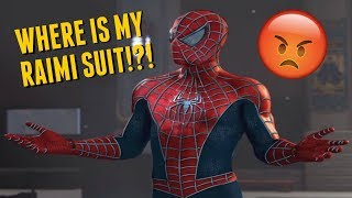 WHERE IS MY RAIMI SUIT!?!? #SpiderManPS4 DLC Rant!