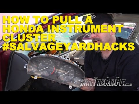 How To Pull A Honda Instrument Cluster #SalvageYardHacks