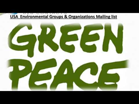 USA Environmental Groups Organizations Mailing lis