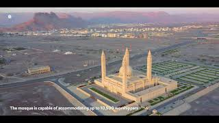 The magnificent  Sultan Qaboos  Grand Mosque of Nizwa is a perfect example of Omani architecture