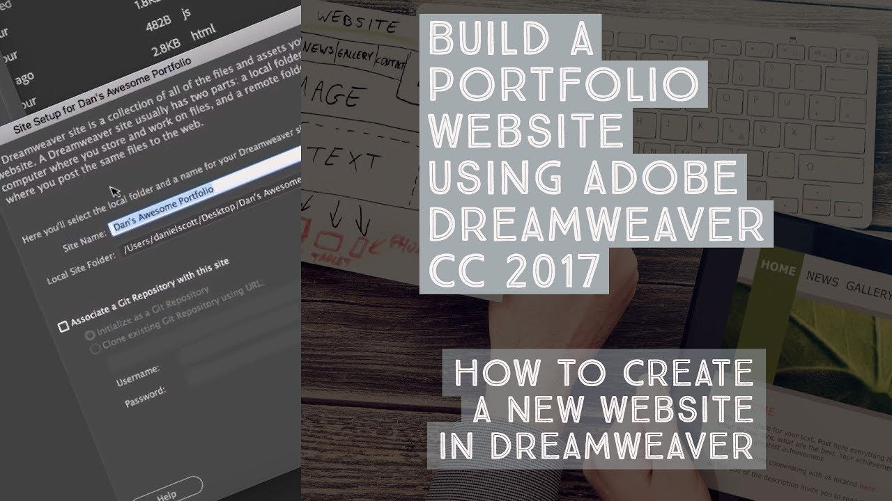 how to create an interactive website in dreamweaver