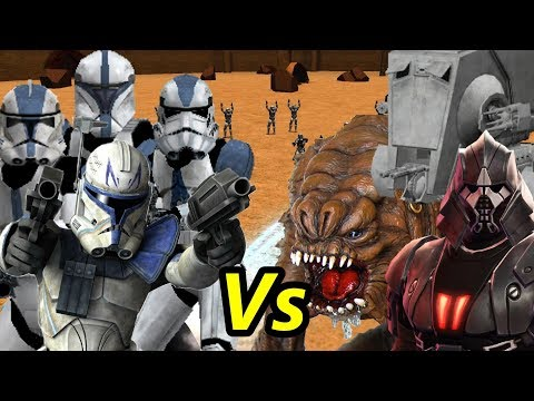 Captain Rex And The 501st Vs The Rancor, Tulak Hord And The At St