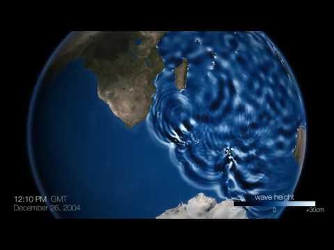 Sattellite View Of Tsunami 2004 INDIA