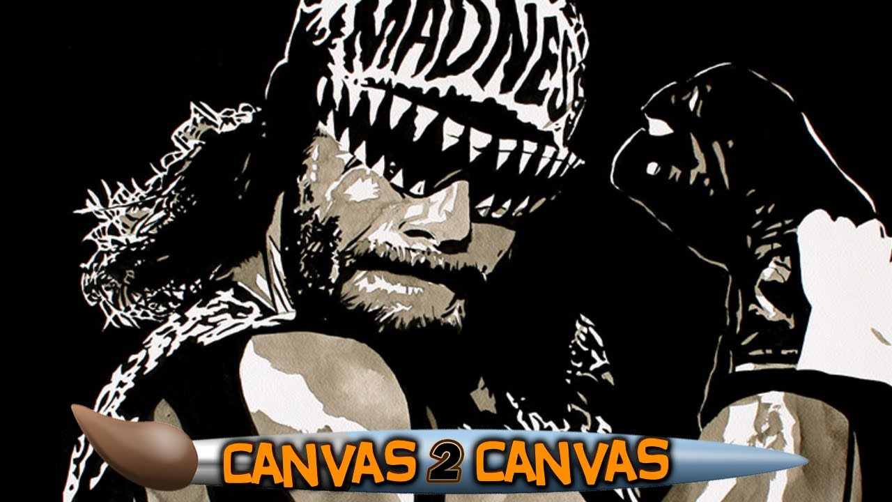 Randy Savage dons the NWO black-and-white!: WWE Canvas 2 Canvas