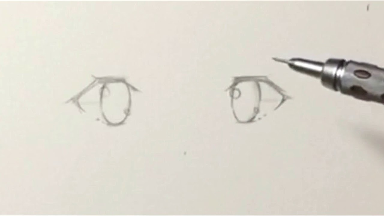 Anime Eyes Drawing Tutorial Youtube
